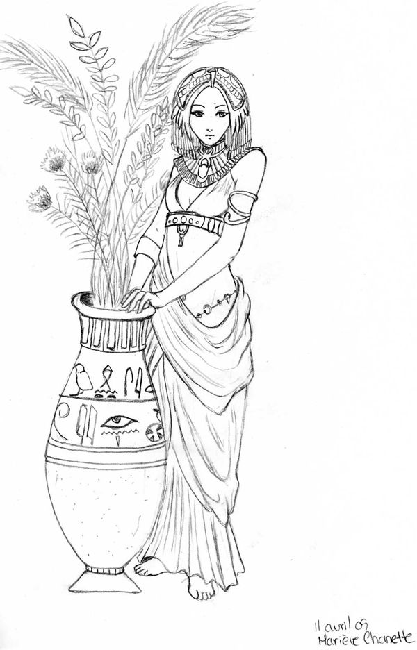 cleopatra egyptian coloring pages - photo#11