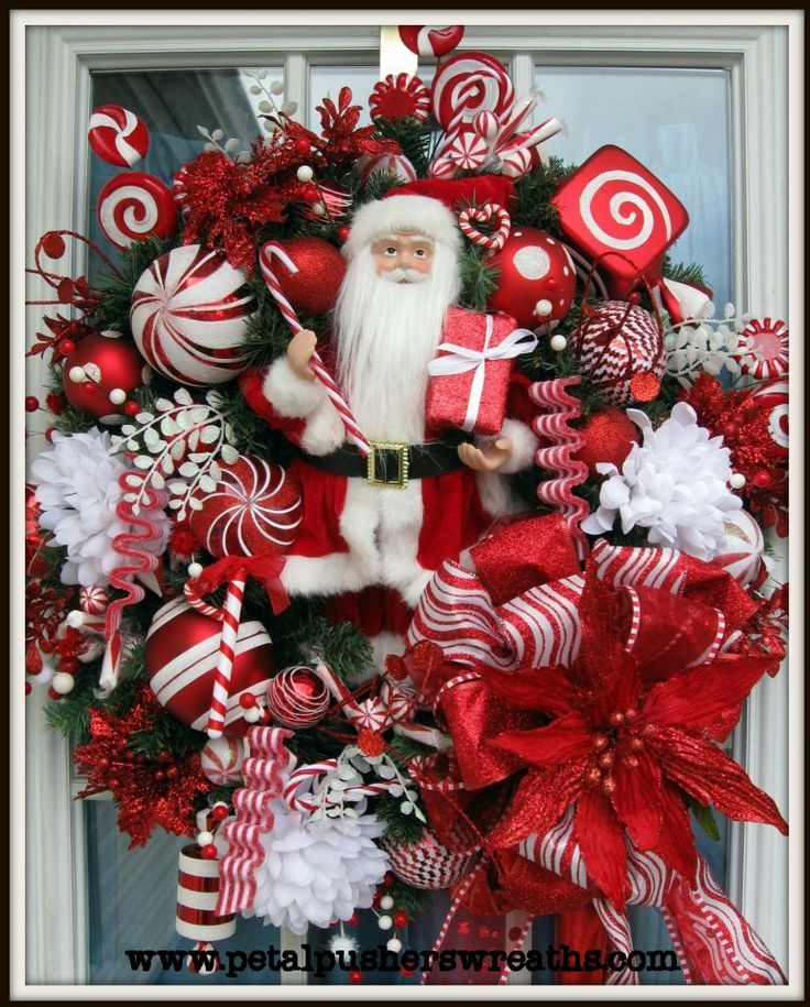 santa 39 s surprise christmas wreath for front door is now on sale now and is off the. Black Bedroom Furniture Sets. Home Design Ideas