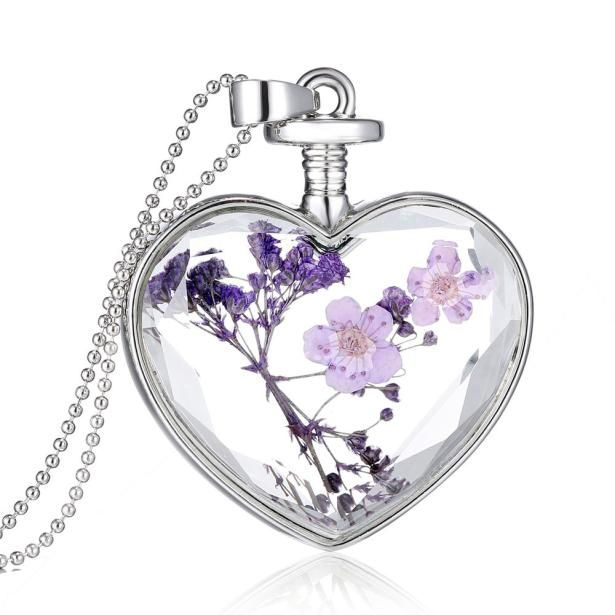 New Design Diomedes beautiful accessories purple flower Women Dry Flower Heart…