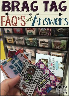 BRAG TAGS are a great option to spice up your classroom management system!  They are a great way to encourage, promote, and celebrate positive behavior!  Read this post for lots of tips and a BRAG TAG FREEBIE!!!