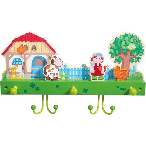 Garderobe Bauernhof HABA 7093 - Tierisch viel Platz zum Aufhängen ♥ sorgfältig ausgewählt ♥ Jetzt online bestellen!