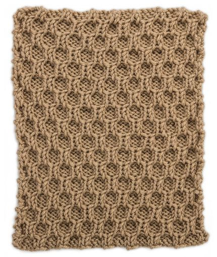 Honeycomb Trellis Square for Knit Your Cables Afghan