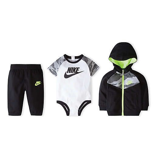 Nike® Size 0 6M 3 Piece Futura Bodysuit, Hoodie, and Pant