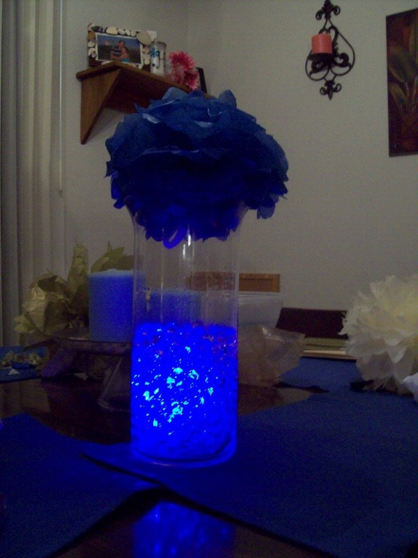 Another cool lit water beads centerpiece
