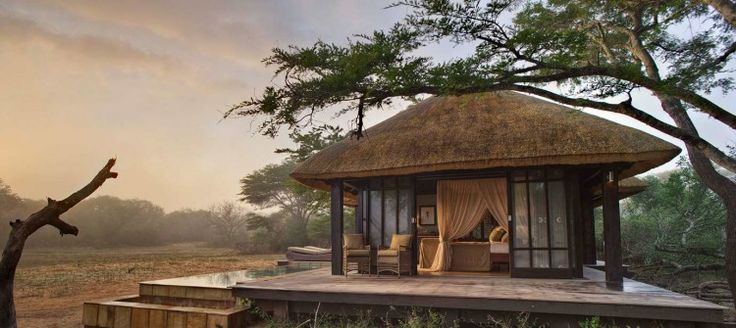Phinda Vlei Lodge This romantic lodge is located on the edge of a forest, with the lodge and each suite providing exclusive views of the open vlei (meadow) and busy water hole. Rooms are equipped with private pools, WiFi, and en-suite bathrooms.