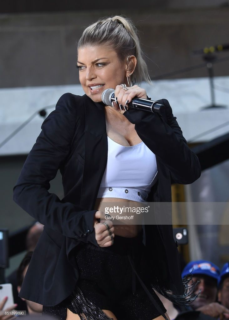 Singer and actress Fergie performs on NBC's 'Today' show at Rockefeller Plaza on September 22, 2017 in New York City.