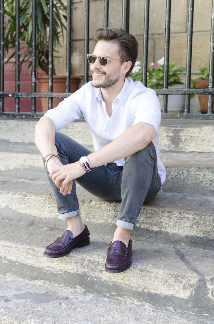 Luca Sebago chemise en lin et mocassins www.bonnegueule.fr