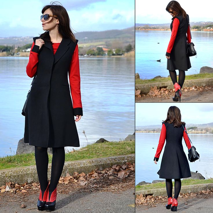 Delight Anthea Fashion blogger from Italy, wearing an elegant Isabel Garcia black long vest.