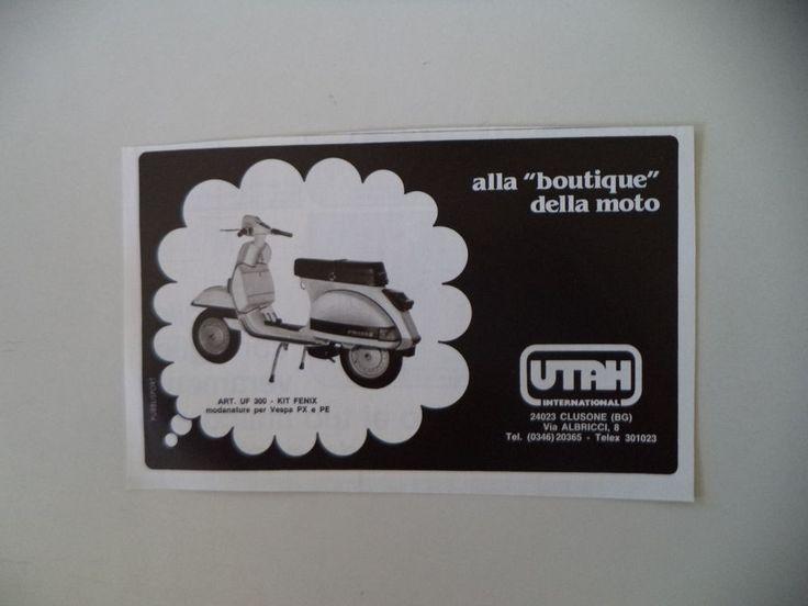advertising Pubblicità 1983 UTAH e VESPA PX 125 E