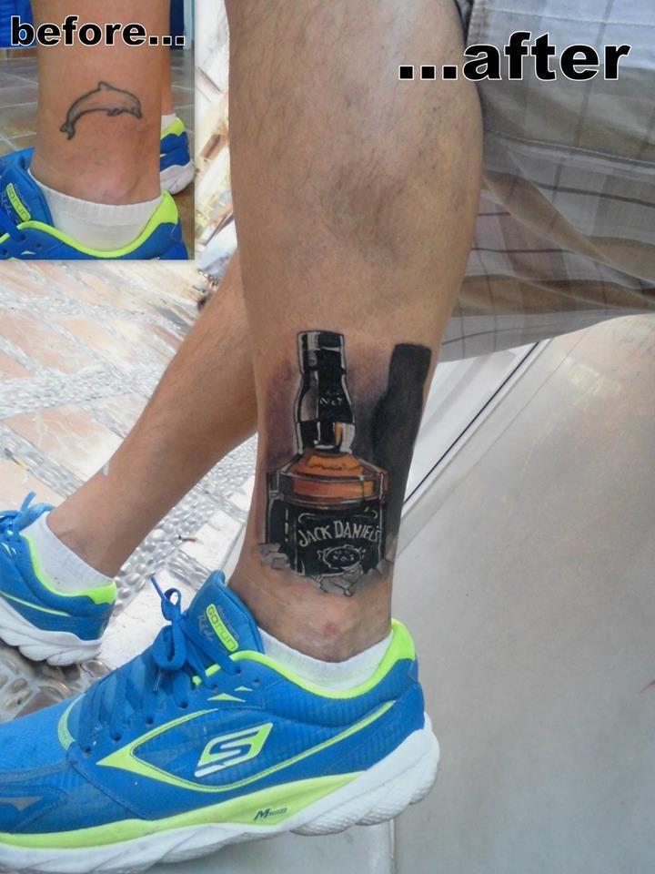 Jack Daniel's by Tulipan in Salvador Tattoo & Art in Marbella, Spain