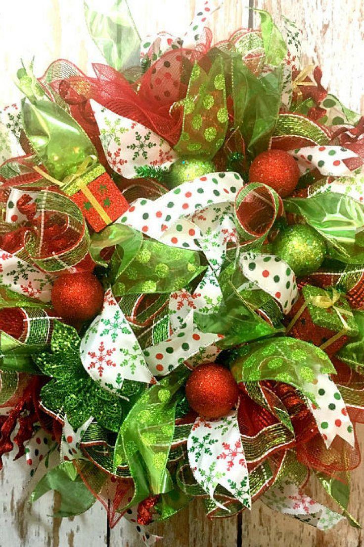 Christmas Wreaths for Front Door, Xmas Door Wreaths, Deco Mesh Wreaths for Sale, Mesh Christmas Wreath, Christmas Wreaths For Sale