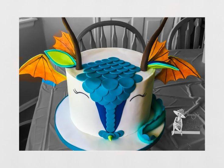 Stylized Dragon Cake by Jenny Kennedy Jenny's Haute Cakes