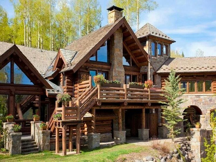 this is one extravagant log cabin but i like it log cabins
