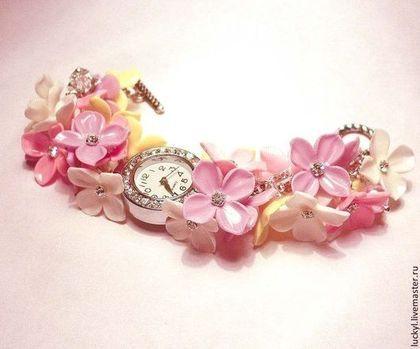 """Часы-браслет """"Настроение"""". - часы,часы-браслет,часы наручные,часы с цветами"""