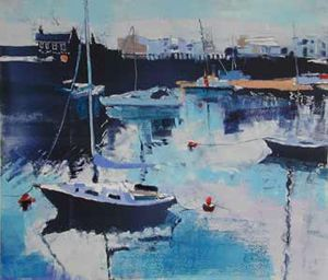 Porthmadog Harbour - Bright Day by Ann Aspinall