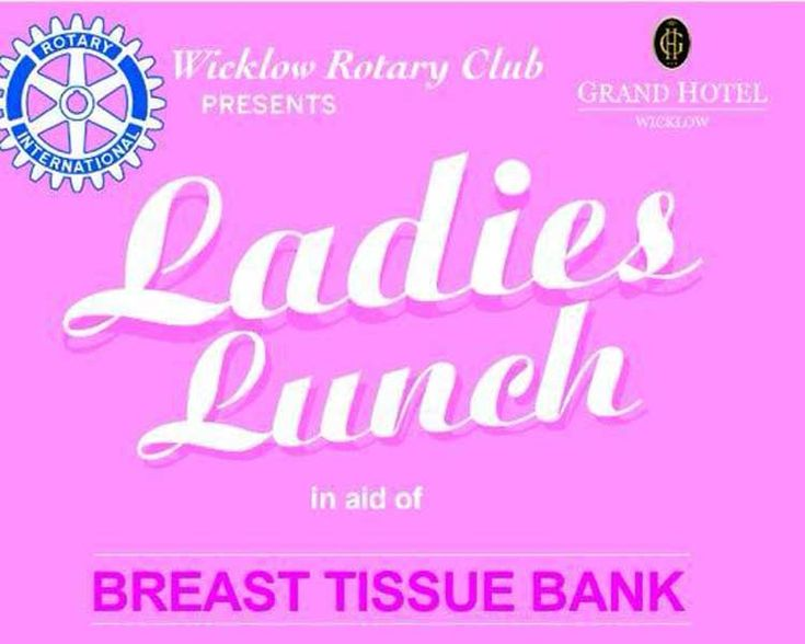 Ladies lunch in aid of breast tissue bank