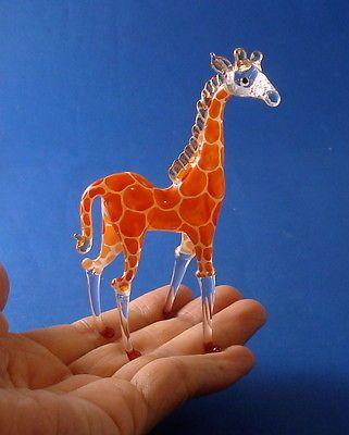 Giraffe Hand Blown Glass Figurine | eBay
