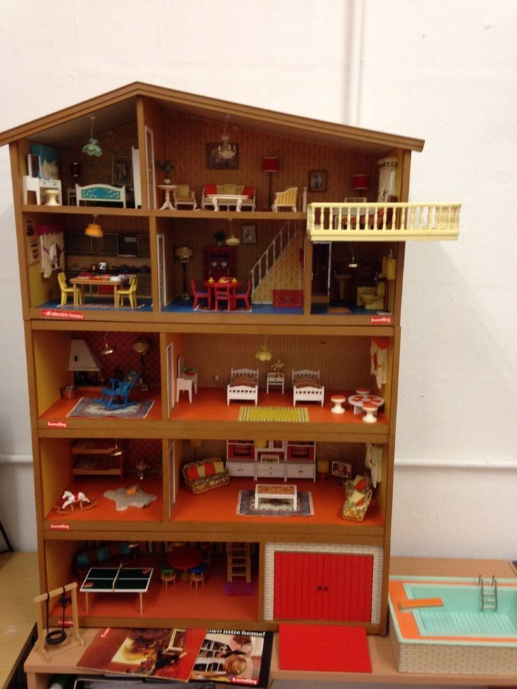 5 Story LUNDBY Dolls House VGC Working Power Pack, Car, 2 Doll Figures,. House  FurnitureDoll HousesVintage ...