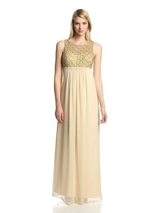 41% OFF JS Boutique Women's Gown with Beaded Bodice (Champagne)