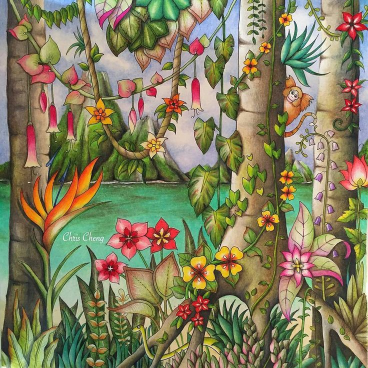 Completed Tropical Paradise By Chris Cheng Video Tutorial Posted On My Board