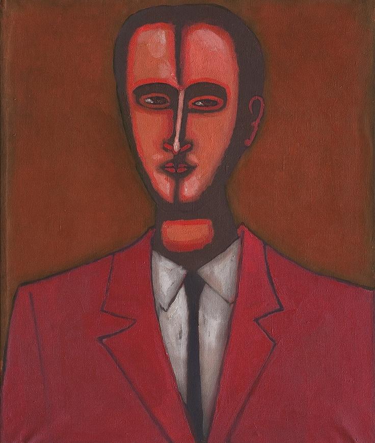 Jerzy Nowosielski | Male Portrait, 1959 | oil, canvas | 60.5 x 50 cm