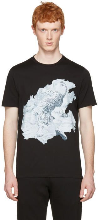 Maison Margiela Black Tiger T-Shirt