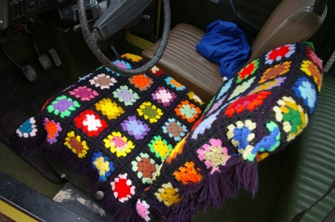 How I made seat covers for my daughter's car for only around $8!- http://sonjacaywood.wordpress.com