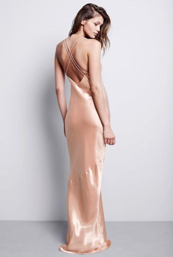 Metallic Maxi Dress, $135. Also available in black. Would be great for a sexy, beachy wedding.
