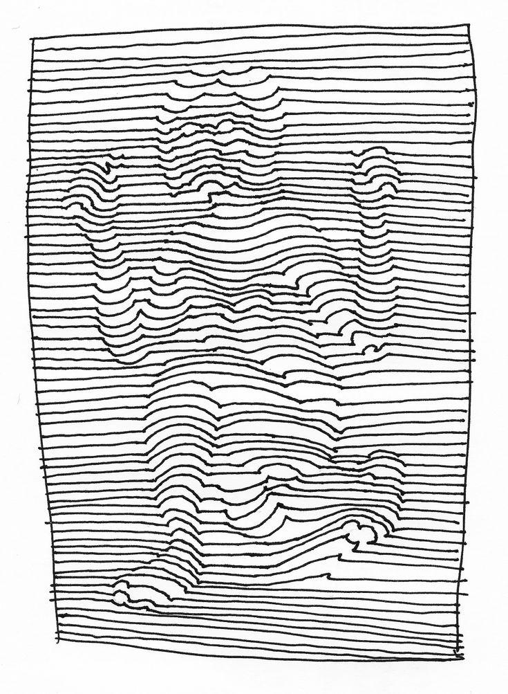 de dibujo artístico y color: Generación de volumen mediante el uso exclusivo de la línea