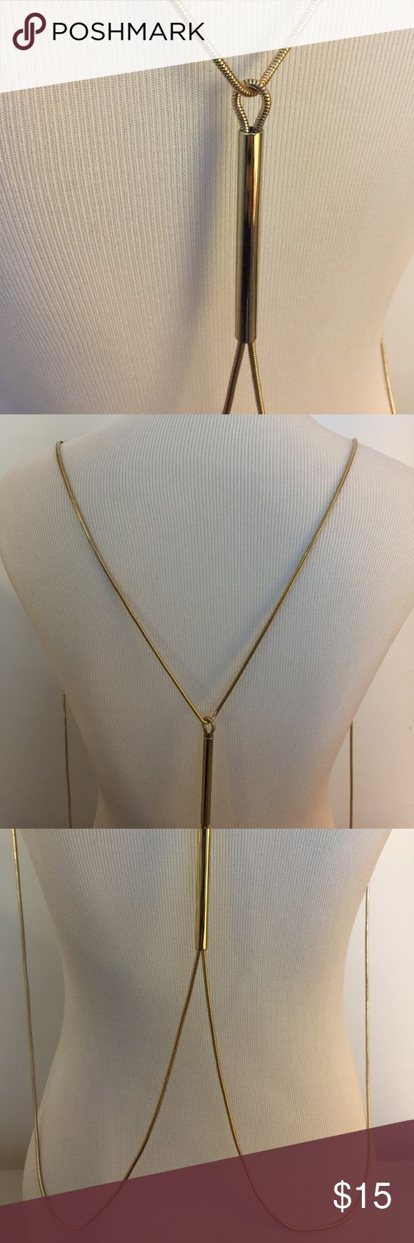 Gold chain harness necklace Aldo gold chain harness necklace, never used, no signs of wear Aldo Jewelry Necklaces