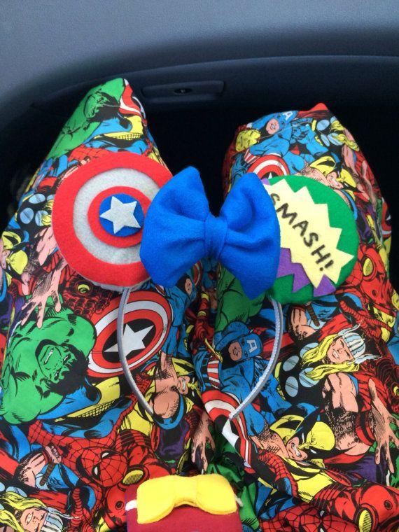 Custom Mouse Ears Avengers Captain America The Hulk by ...