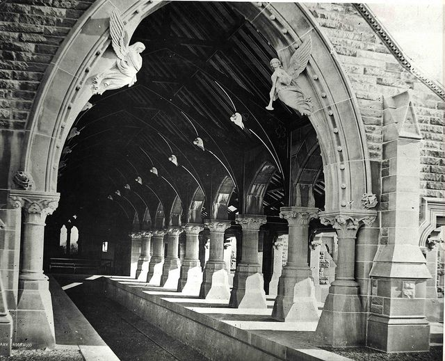 Gothic arches of the No.1 Mortuary Railway Station, Rookwood Cemetery (NSW)