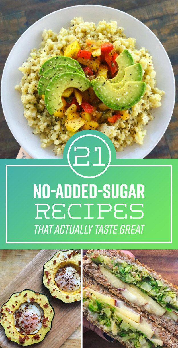 You don't need to add sugar to make a meal taste good!