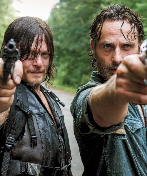 Rick Grimes and Daryl Dixon in The Walking Dead Season 6