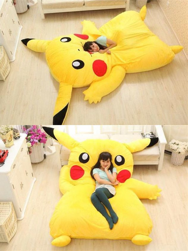 Giant #Pikachu #Bed