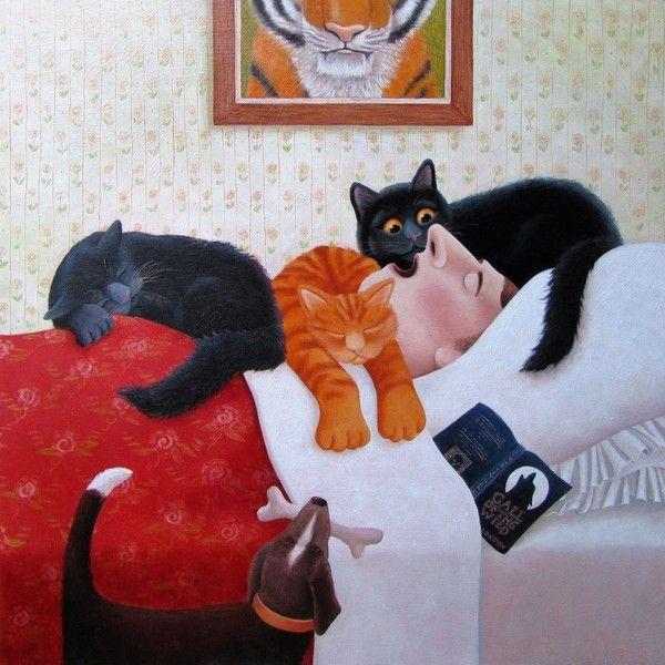 I gatti sanno per istinto il momento esatto in cui i loro padroni si sveglieranno, e così li svegliano dieci minuti prima (Jim Davis)