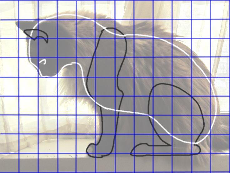 Motif de la Mache Cat papier