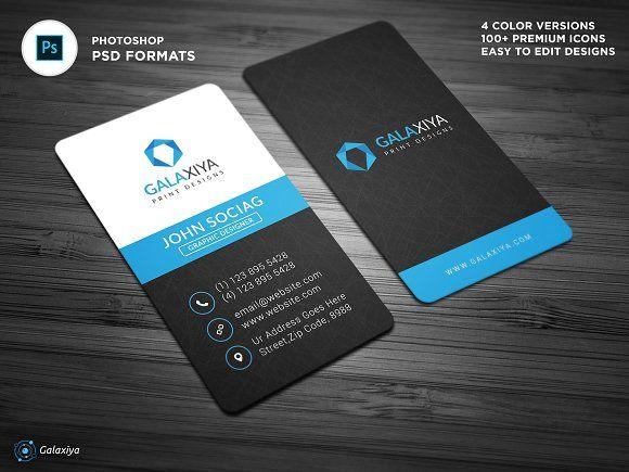 Modern Vertical Business Cards Vertical Business Cards Business Cards Creative Templates Create Business Cards