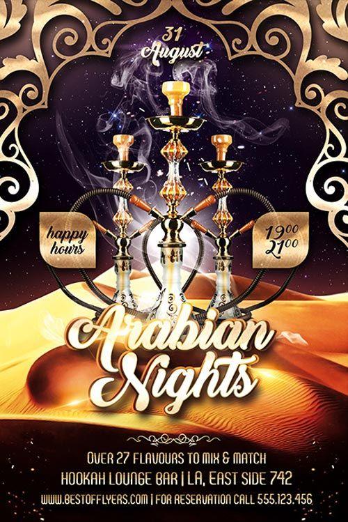 """Plantilla gratis PSD """"Arabian Nights"""""""