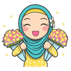 check out the Young Muslimah : Daily Talk sticker by AMAUSTIKER on chatsticker.com