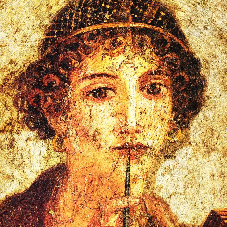 SAFO. Lienzo fresco romano de la poetisa griega.