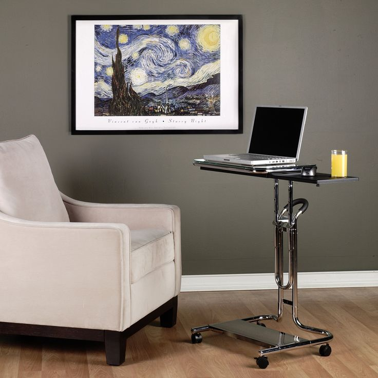 Calico Designs 51201 Carrito computadora portátil, con bandeja para el mouse, cromado y cristal negro: Amazon.com.mx: Hogar y Cocina