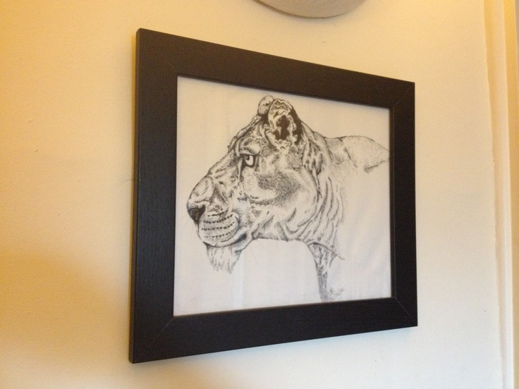 'The Hunter'  Original pencil and pen by S. Goodchild