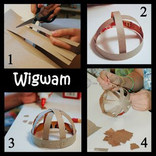 Make a wigwam like the Pilgrims lived in at Jamestown