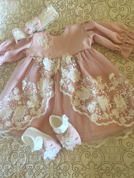 Baby Dress Set Pink Baby Dress Baby Lace Dress Infant