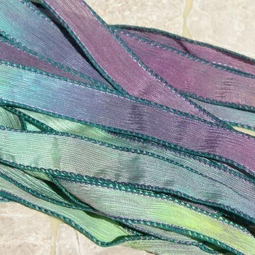 Hand Dyed 5 Strings Sewn Green Purple Blue Pink