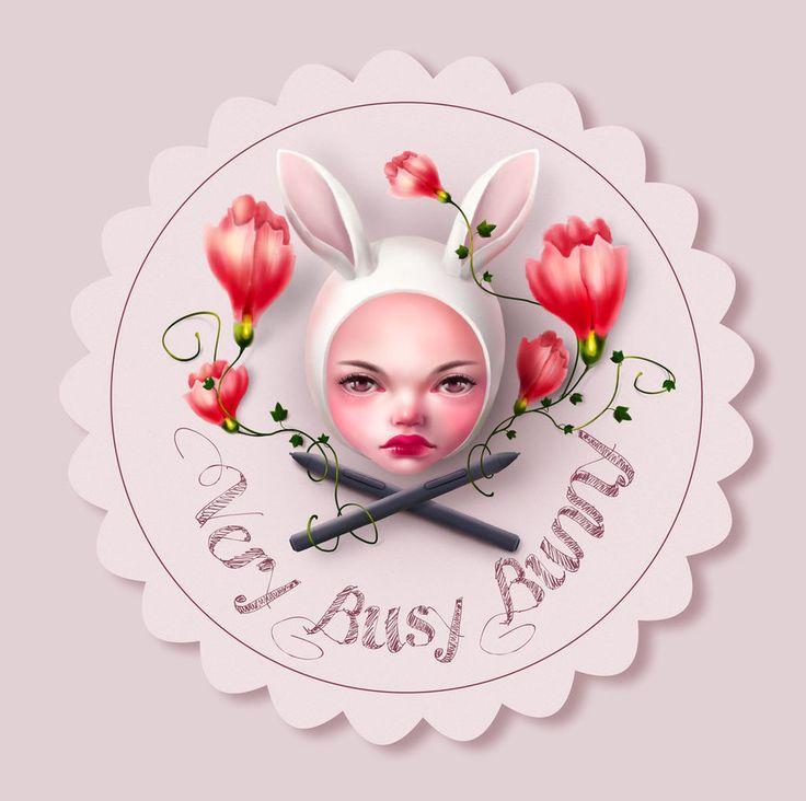 logo by very-busy-bunny  #bunny #logo #rabbit