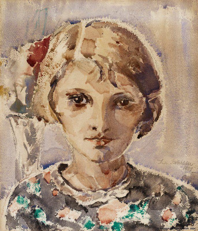 INA COLLIANDER Tytön Muotokuva (Portrait of a Girl, 1929)
