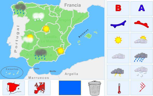 ¡¡ Crea tu propio mapa del tiempo !!   Tiempo atmosférico, Naturales, Educación Primaria  http://recursosdeandrea.blogspot.com.es/