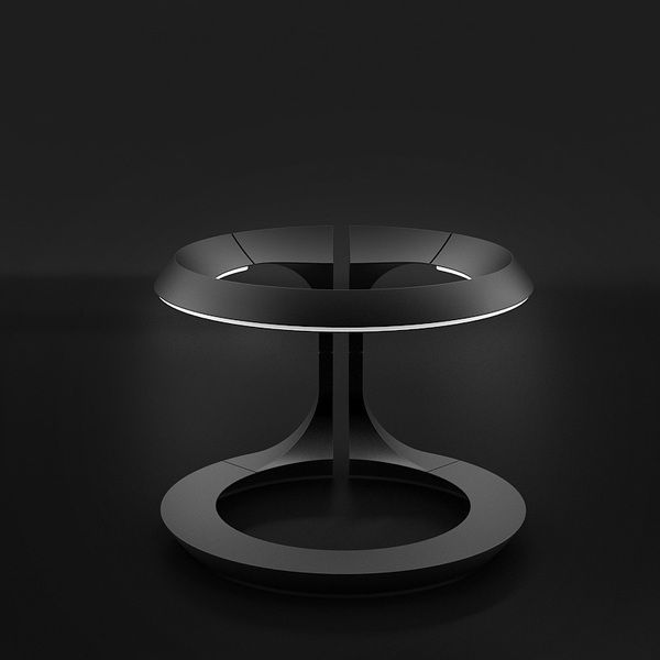 "Toro. The ""moody desk light"" can be bright enough to light up your workspace or can be set as a lower ambient light."